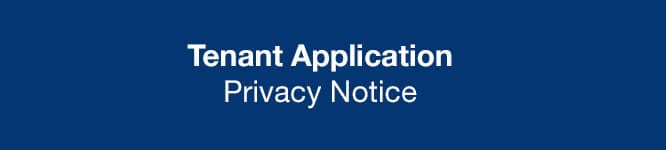 Tenant applicant privacy notice